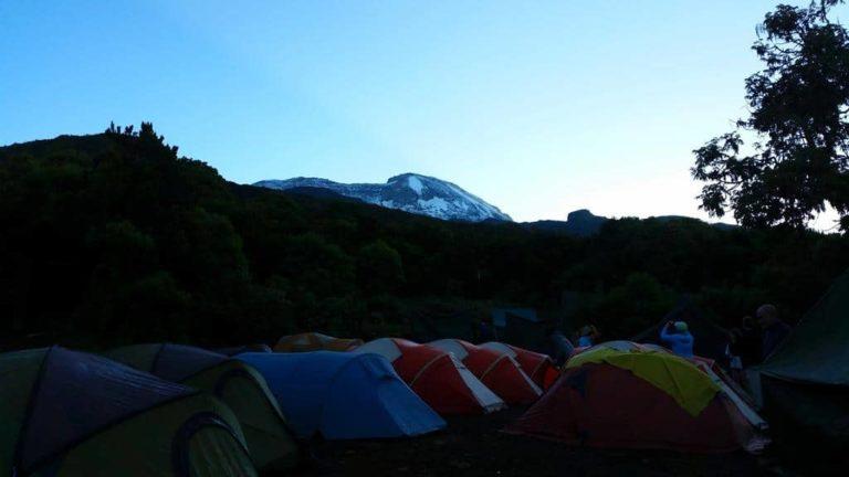 Morgenstimmung im Camp