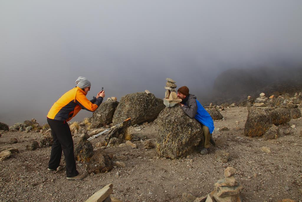 Fotoshooting vor den Steinmännchen