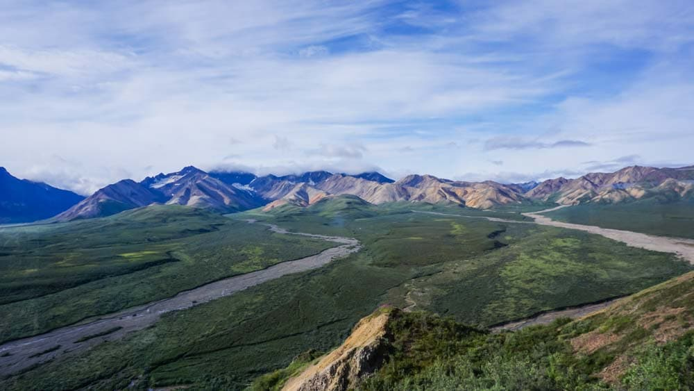 Blick über den Denali Nationalpark - Wandern