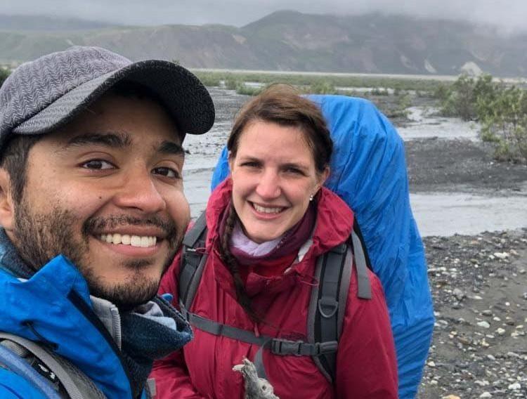 Christian und Lisa beim Wandern im Denali Nationalpark